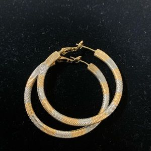 Good and silver plated hoops.